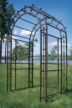 """Pergola Arch Arbor by H POTTER. $1058.00. 38 ½""""L x 57 ¾""""W x 96""""H. Optional add on units to extend length.. Galvanized steel for long life against rusting. Exclusive design from H Potter. Your garden is a glorious place, so why not create an entryway that reflects its welcoming splendor? Step through the Pergola Arch Arbor like Alice through the looking glass, into a world where the ordinary is very far away. Use the base unit as a stand-alone, or add sections to lengthe..."""