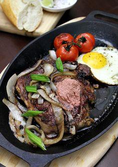 // vietnamese steak and eggs