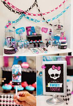 Monster High Theme Dessert Table