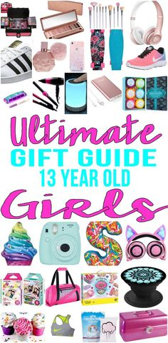 BEST Gifts 13 Year Old Girls! Top gift ideas that 13 yr old girls will love! Find presents & gift suggestions for a girls 13th birthday, Christmas or just because. Cool gifts for teenage girls on their thirteenth bday. Wondering what to a 13 year old for her birthday? We have you covered - from makeup to electronics to sports & more - find the best gift ideas! Amazing products for daughters, grandkid, niece, friend or best friend.