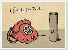 I phone, you tube. Funny, humor :D