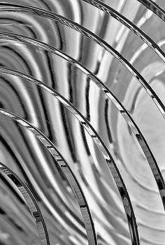 Fresnel Lens (pronounced fray-nell), a lighthouse lens. • ©Witta Priester
