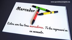 """Marcador... it's a very similar word to marker, isn't it? Demonstrative pronouns like """"Ese, estos"""" are another important grammar topic used in classroom phrases in Spanish."""
