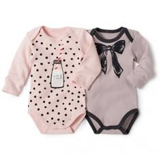 How cute are these baby girl rompers! Love the polka-dot and milk one. Baby Girl Shirts, Baby Girl Romper, Cute Baby Girl, Baby Baby, Baby Outfits, Kids Outfits, Baby Girl Fashion, Toddler Fashion, Kids Fashion