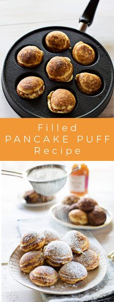 Stuffed pancake puffs