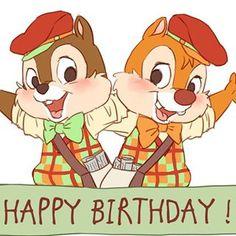 Cute Birthday Wishes, Happy Birthday, Rescue Rangers, Chip And Dale, Disney Dream, Disney Channel, Sanrio, Walt Disney, Backgrounds