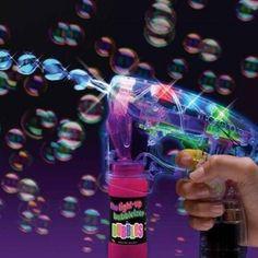 Bubble Gun Flashing LED Light Up Shooter Blower Automatic Extra Bottle (2 PACK) #Haktoys