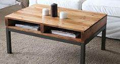 Reused pallet coffe table :) more hiding spaces