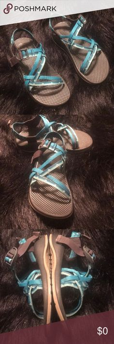 1dca4f6d283c Shop Kids  Chaco Blue Black size Kids 3 or 5 Adult Woman Sandals   Flip  Flops at a discounted price at Poshmark.