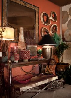 Rusts and reds are just fantastic colors. I design a lot with these colors; they're warm, earthy, and pleasing to the eye. It's a color scheme that evokes memories of hiking red mountains in Arizona. -- CeTerra Accents & Interiors