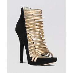 MICHAEL Michael Kors Open Toe Caged Platform Evening Sandals - Cameron High Heel