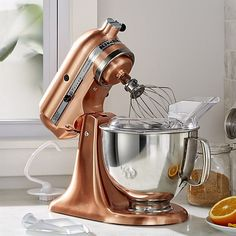 Free Shipping. Shop KitchenAid ® Copper Metallic Series Stand Mixer. A gorgeous copper cladding elevates the kitchen presence of the classic KitchenAid stand mixer, a favorite of home and professional chefs since 1919.