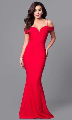 6fe5eee30284 Long Off-the-Shoulder Formal Mermaid Dress Abiti Lunghi