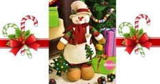 snowman cuntry with pine Poinsettia, Christmas Stockings, Christmas Ornaments, Ideas Geniales, Elf On The Shelf, Snowman, Gift Wrapping, Holiday Decor, Gifts