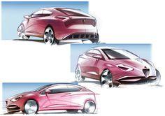 Alfa Romeo Mito 2018 Pantone sketches on Behance