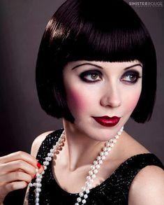 flapper make-up, flapper, 1920s, modern 1920's