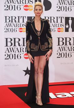 Alesha Dixon Steals the Show in an Emilio Pucci Jacket and Carvela 'Georgia' Heels at the 2016 BRIT Awards Emilio Pucci, Brit Awards 2016, Britain's Got Talent Judges, Alesha Dixon, Britain Got Talent, Carvela, Kate Moss, Put On, Georgia