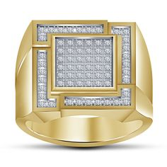 Round Cut Sim.Diamond 14Kt Yellow Gp in 925 Silver Anniversary Men's Ring Sz 8 9 #MensWeddingRing