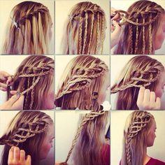 Cute and easy braid meant for long or medium length hair