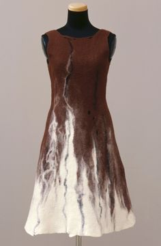 #nuno felting dress