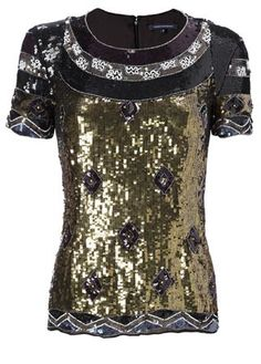 French connection carnival sequin short sleeve top Worn once French Connection Tops Sequin Shorts, Sequin Top, French Connection Tops, Jewellery Display, Fashion Tips, Fashion Design, Fashion Trends, Sequins, My Style