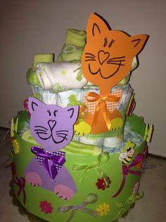 Cat diaper cake