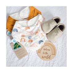 Such a gorgeous collection of Bandana bibs, rainbow and mustard.  @twolittleblossom . Thank you for your beautifully styled flatlay. Do you know we are part of the Australian made campaign?