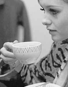 Tea with Twiggy.