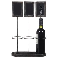Wine Tasting Chalkboard Bottle Holder