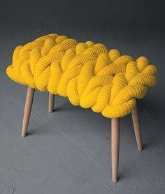 Claire Anne Ou0027Brien   Knitted Stools British Textile Designer Claire Anne  Ou0027Brien Has Created A Collection Of Stools That Feature A Variety Of  Knitted Seat ...