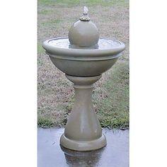 Bradley Garden Outdoor Fountain with Sphere Brick/Pecan