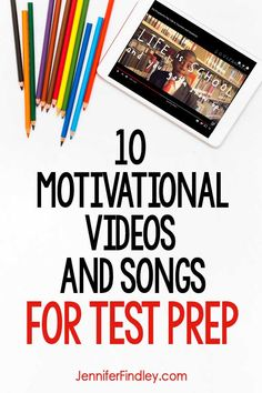 Test Prep Videos for Motivation and Encouragement - Teaching with Jennifer Findley - Education - Keep your students motivated and encouraged during test prep and testing season with this collectio - Staar Test, Standardized Test, Test Taking Strategies, Teaching Strategies, Motivational Songs, Reading Test, Reading Intervention, Kid President, Student Motivation