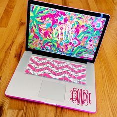 I have this keyboard cover and a lilly background! Now I just need the monogram...