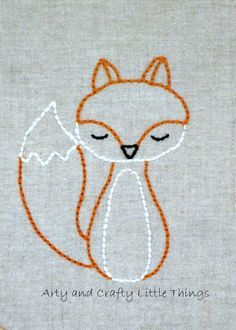 fox embroidery pattern - Google Searrrch