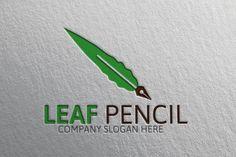 Leaf Pencil logo by josuf on Creative Market