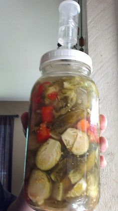 Fermented pickled brussel sprouts.