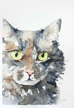Custom pet portrait in watercolor                                                                                                                                                      More