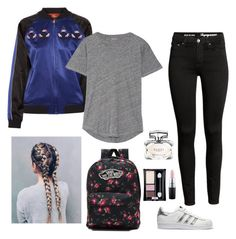 """""""the bômb"""" by stayve-oxfords-marie-nike on Polyvore featuring Opening Ceremony, adidas Originals, Madewell, Vans, Gucci, MAC Cosmetics and Maybelline"""