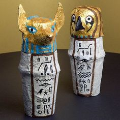 Help children further their understanding of the important rituals in Ancient Egypt with these amazing Egyptian Canopic Jars! Head over to our website for the full instructions!