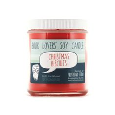 This Hand Poured Christmas Biscuits Scented Book Lovers' Soy Candle makes a fragrant stocking stuffer gift idea.