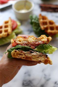 Cheddar Buttermilk Waffle BLT