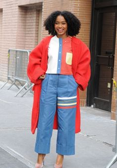 Yara Shahidi Exits The View After an Appearance in NYC Celebrity Photos, Celebrity Style, New York Style, My Style, Online Photo Gallery, Black Girl Fashion, Fashion Outfits, Womens Fashion, Wardrobes