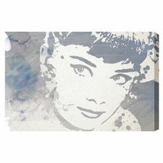 Hand-stretched canvas print with a portrait of Audrey Hepburn. Made in the USA.   Product: Canvas printConstruction Material: Gallery-wrapped canvas and woodFeatures: Ready to hang Cleaning and Care: Dust lightly
