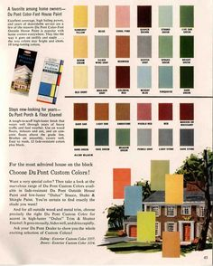 1960 Exterior House Colors