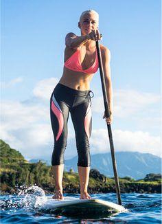 BREATHE BY BODY GLOVE DISTRACTION SURF CAPRI SWIM Rashguards