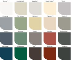 pictures of exterior house colors schemes, steel blues | Lysaght®: Colour Chart for COLORBOND® steel