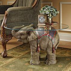 Design Toscano Jaipur Elephant Festival Indian Decor Coffee Table with Glass Top, cm, Polyresin, Full Color Elephant Table, Elephant Home Decor, Elephant Art, Elephant Design, Elephant Decorations, Elephant Stuff, Baby Elephant, Elephant Meaning, Elephant Mugs