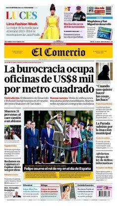 #NuestraPortada La burocracia ocupa oficinas de US$8 mil por metro cuadrado ► http://elcomercio.quioscodigital.pe/