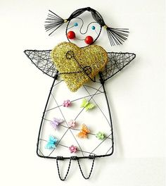 Angel of happiness .... by wires - SAShE.sk - Handmade Decoration