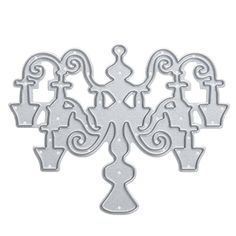 """New Chandelier Metal Cutting Dies Template for DIY Scrapbooking/Photo Album Card Making Decoration Embossing Card Crafts  Size: 7cm*6cm/2.76""""*2.36""""  Material: Metal  Packing: 1pc  Fantastic design for your invitations/ cards/ envelopes."""
